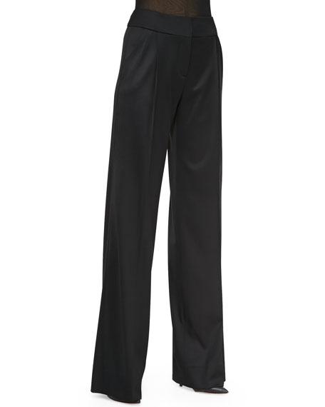 High-Waist Trousers, Black