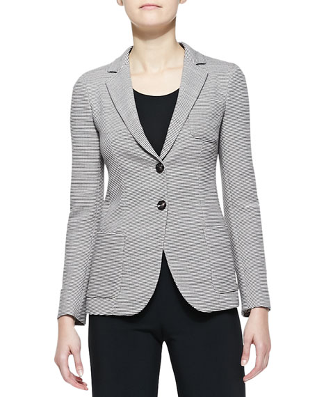 Armani Collezioni Wool Two-Button Blazer & Double-Faced Jersey