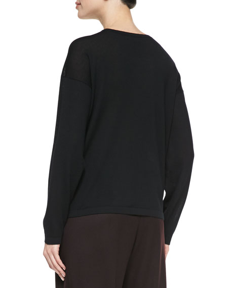 Round-Neck Cashmere Top