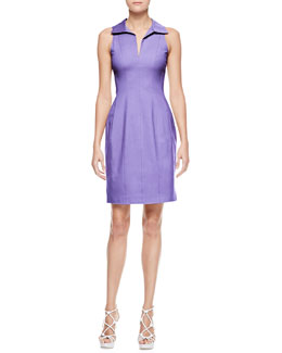 Armani Collezioni Sleeveless Stretch Cotton Shirtdress, Iris