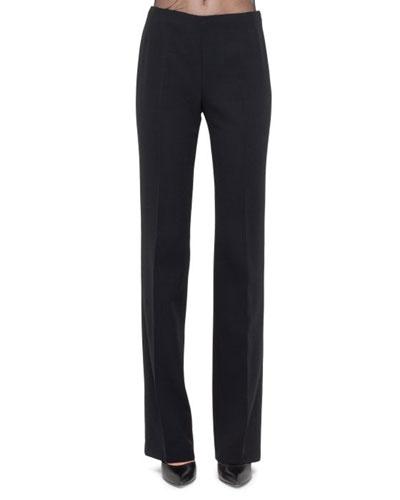 Classic Carol Flat Front Pants, Black
