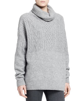 THE ROW Carrington Cable Turtleneck Sweater