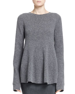 THE ROW Sabelle Fluted Cashmere Top