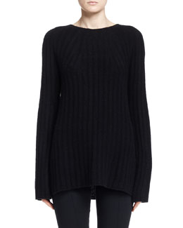 THE ROW Ede Ribbed Knit Sweater