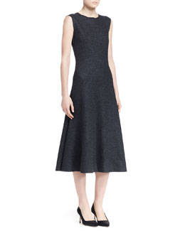 THE ROW Nista Felted Wool Sleeveless Dress