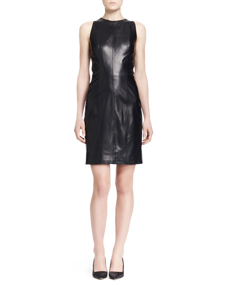 THE ROW Arlow Sleeveless Lambskin Dress