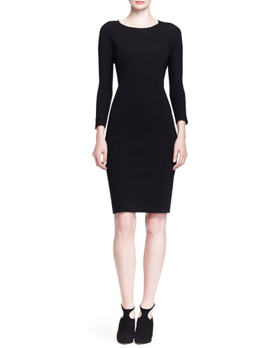 THE ROW Ilid Long-Sleeve Scuba Sheath Dress