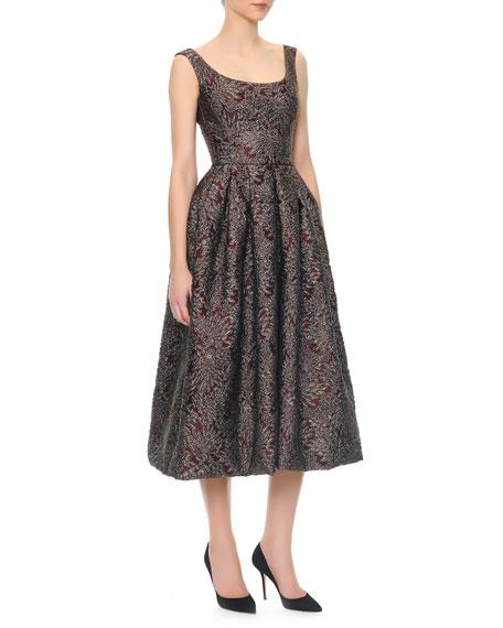 Dolce & Gabbana Scoop-Neck Full Skirt Tea-Length Dress
