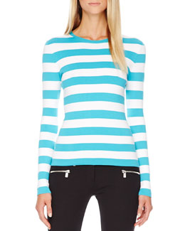 Michael Kors Striped Cotton Tee