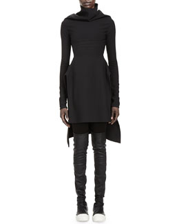Rick Owens Calla Long-Sleeve High-Low Dress