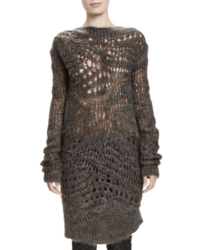 Rick Owens Lupetto Lungo Mohair/Silk Sweater