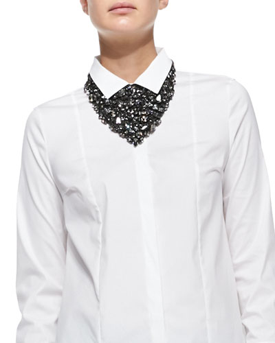 Brunello Cucinelli Swarovski® Crystal Bib Necklace