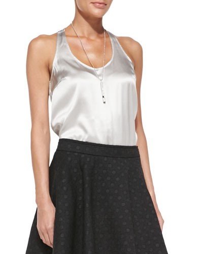 Brunello Cucinelli Satin Racerback Tank Top