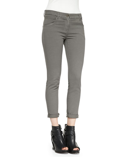 Five-Pocket Garment-Dyed Jeans
