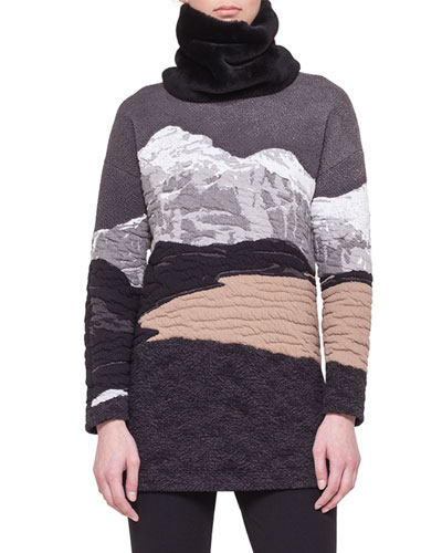 Akris punto Swiss Alps Jacquard Sweater