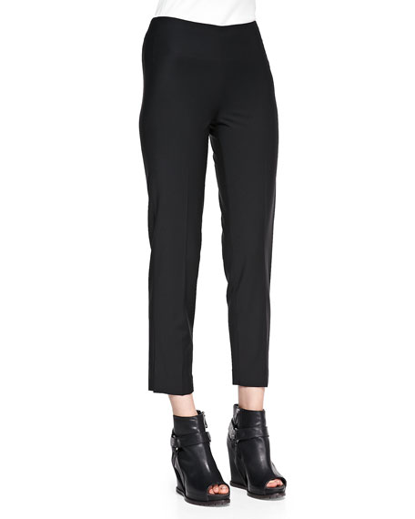 Lightweight Wool-Blend Ankle Pants