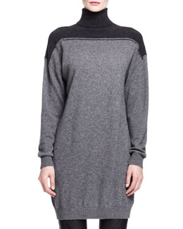 Alexander Wang Splittable Cashmere Turtleneck Dress