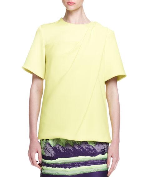 Short-Sleeve Bias-Draped T-Shirt