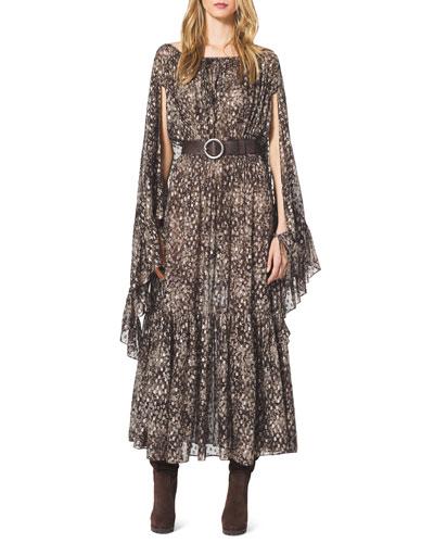 Michael Kors  Tiered Ruffle-Trim Boho Dress