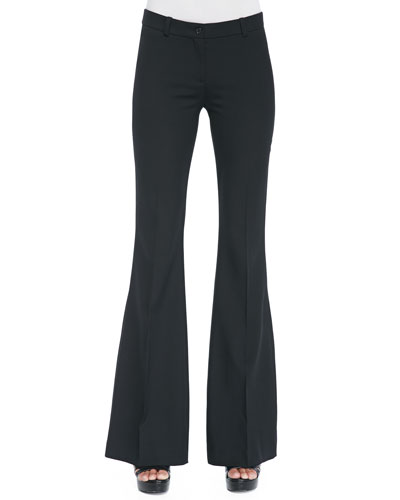 Michael Kors  Stretch-Wool Flared Trousers