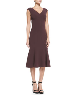 Michael Kors  Fitted Drop-Skirt Dress