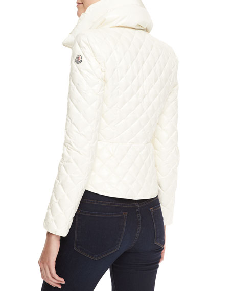 Fitted Quilted Jacket, Ivory