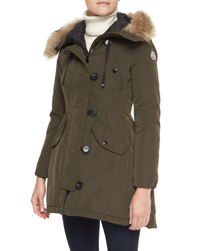 Moncler Parka with Fur-Trim Hood