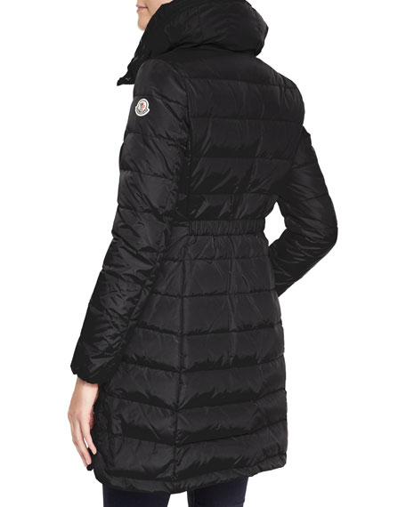 Long Puffer Coat with High Collar