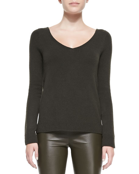 Cashmere V-Neck Easy Pullover Sweater