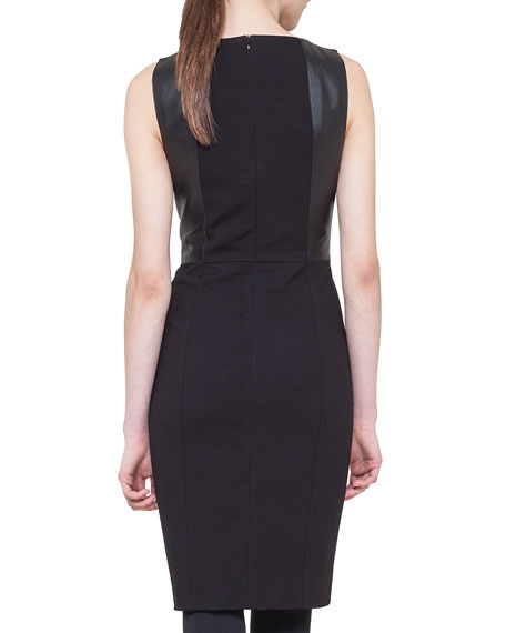 Sleeveless Paneled Combo Dress