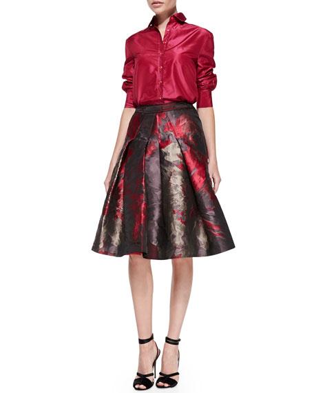Flared Floral Skirt, Rose/Multi