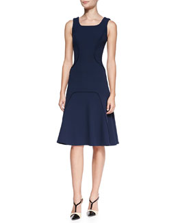 Carolina Herrera Wool-Blend A-Line Dress