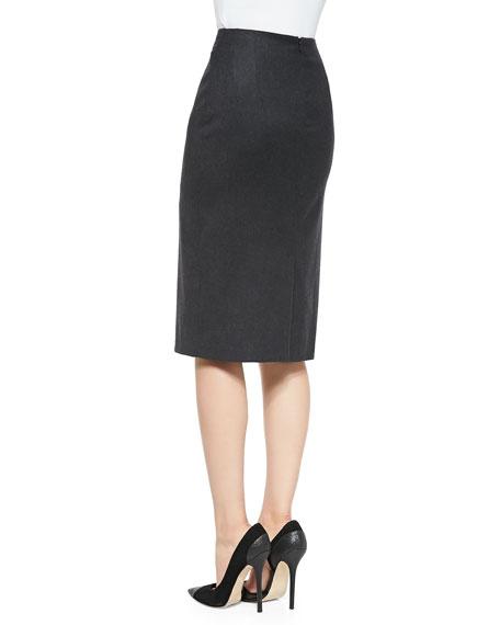 Straight Pencil Skirt, Charcoal