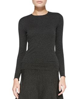 Ralph Lauren Black Label Long-Sleeve Cashmere Jersey Top