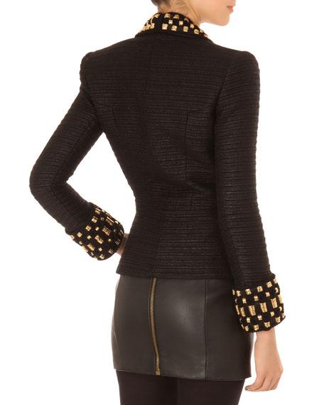 Embellished Short Tuxedo Jacket