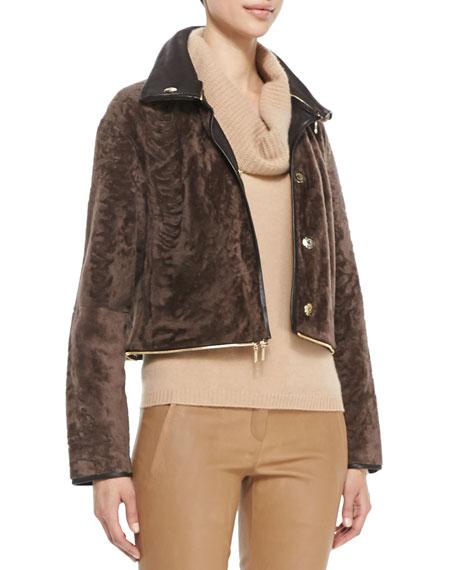 Fur Jacket with Zip-Off Bottom, Pine