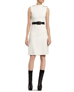 Gucci White Stretch Jersey Dress
