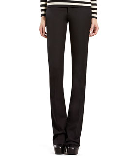 Gucci Black Cotton Stretch Pants