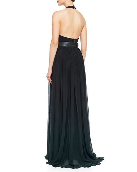 Halter-Top Gown, Deep Green