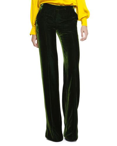 Emilio Pucci Wide-Leg Silky Velvet Pants