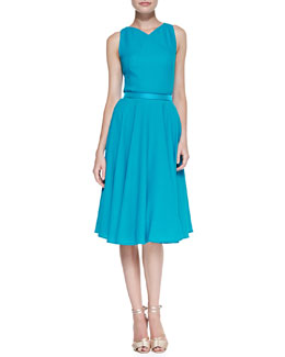 Carolina Herrera Lightweight Crepe Sleeveless Dress