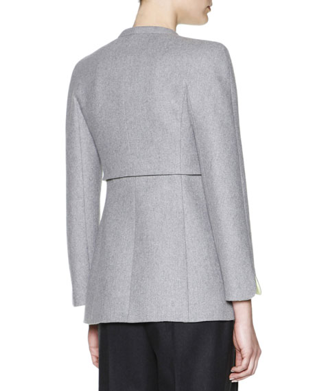 V-Neck Jacket With Contrast Lining