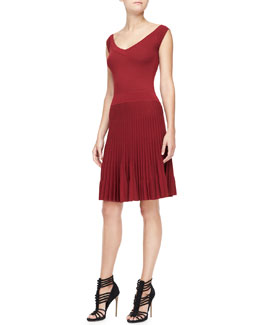 Donna Karan Sleeveless Fit & Flare Dress