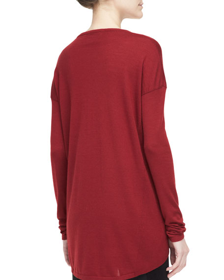 Long-Sleeve Scoop-Neck Tunic