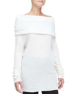 Donna Karan Off-Shoulder Cashmere-Silk Tunic