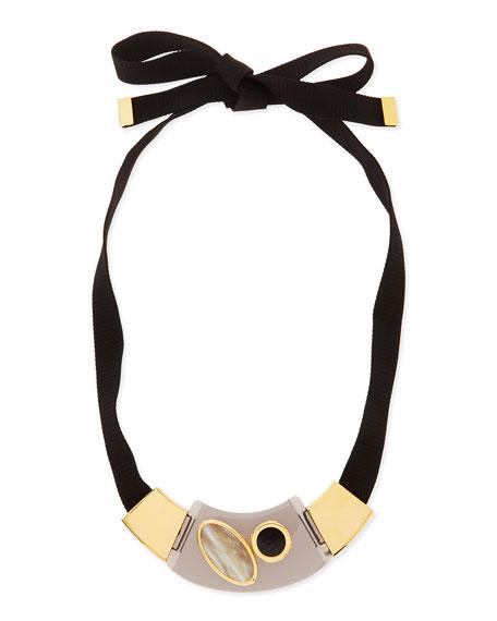 Mixed Media Collar Necklace