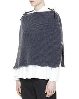 Marni Full-Side-Zip Knit Poncho