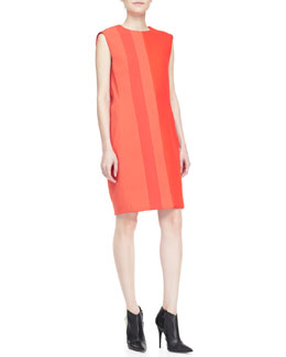 Narciso Rodriguez Sleeveless Two-Tone Shift Dress