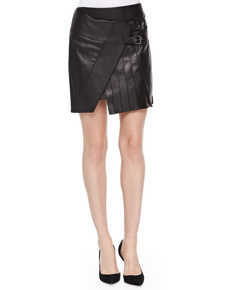Short Leather Kilt Skirt
