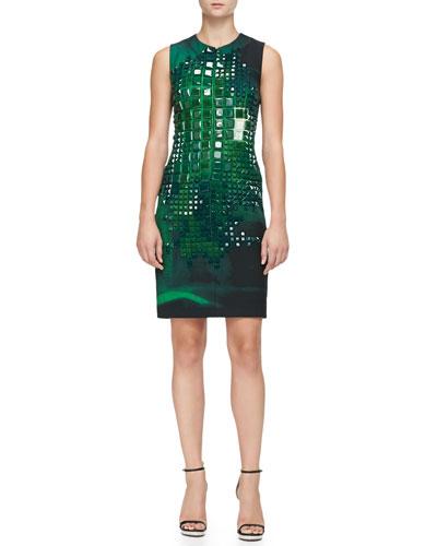 Akris Sleeveless Square-Stone-Embellished Dress